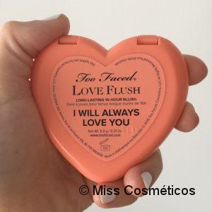Too Faced Love Flush I Will Always Love You - datos